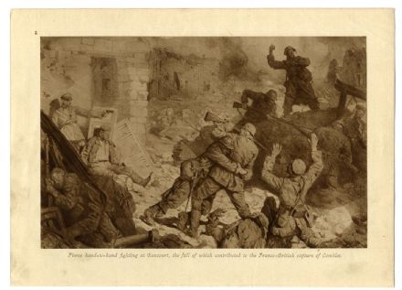 1916 Great War RANCOURT Somme PICARDY Hand to Hand Fighting WORLD WAR ONE Print